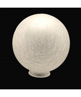200mm Frosted Crackle Globe Light Shade with 80mm Fitter Neck