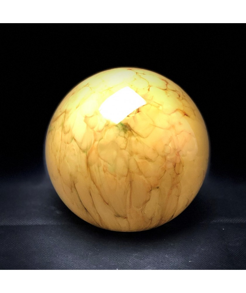 150mm Art Deco Marbled Globe Light Shade with 80mm Fitter Hole