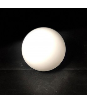 100mm No Neck Opal Globe Light Shade with 50mm Fitter Hole (Gloss or Matt)