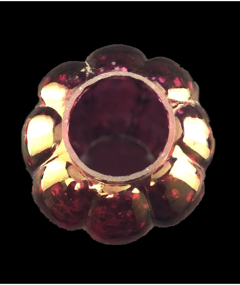 Cranberry Tulip Oil Lamp Shade with 85mm Base