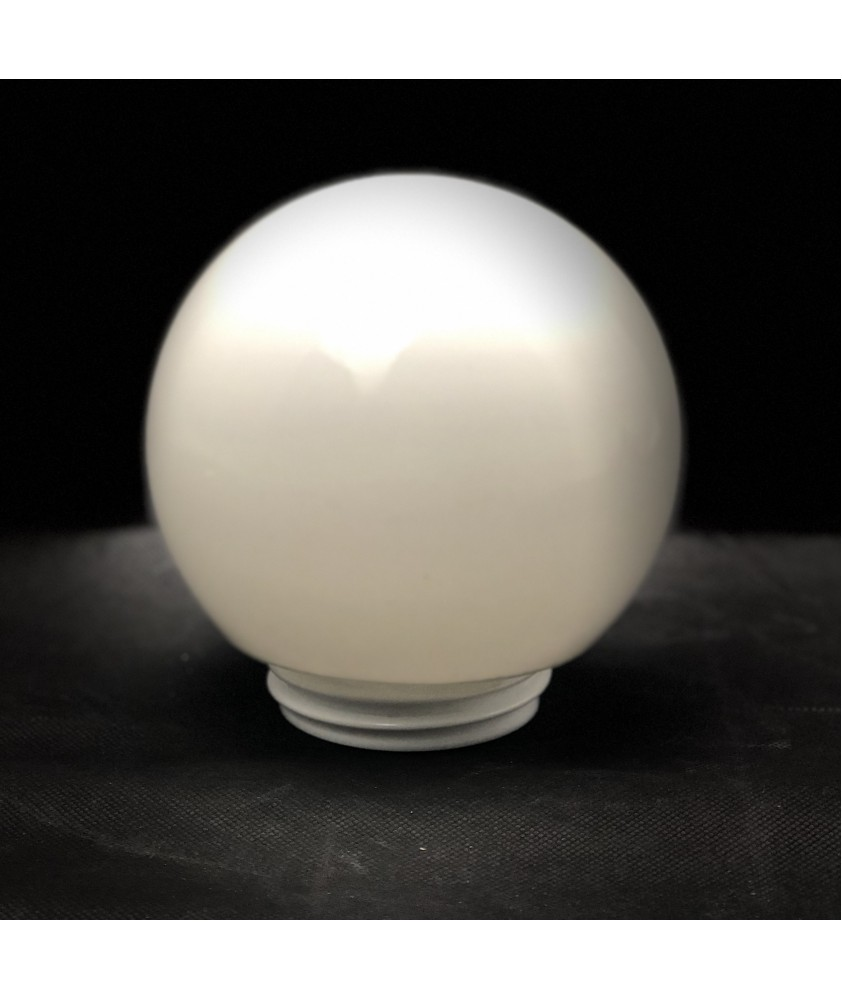 150mm White Globe with 80mm Screw Neck