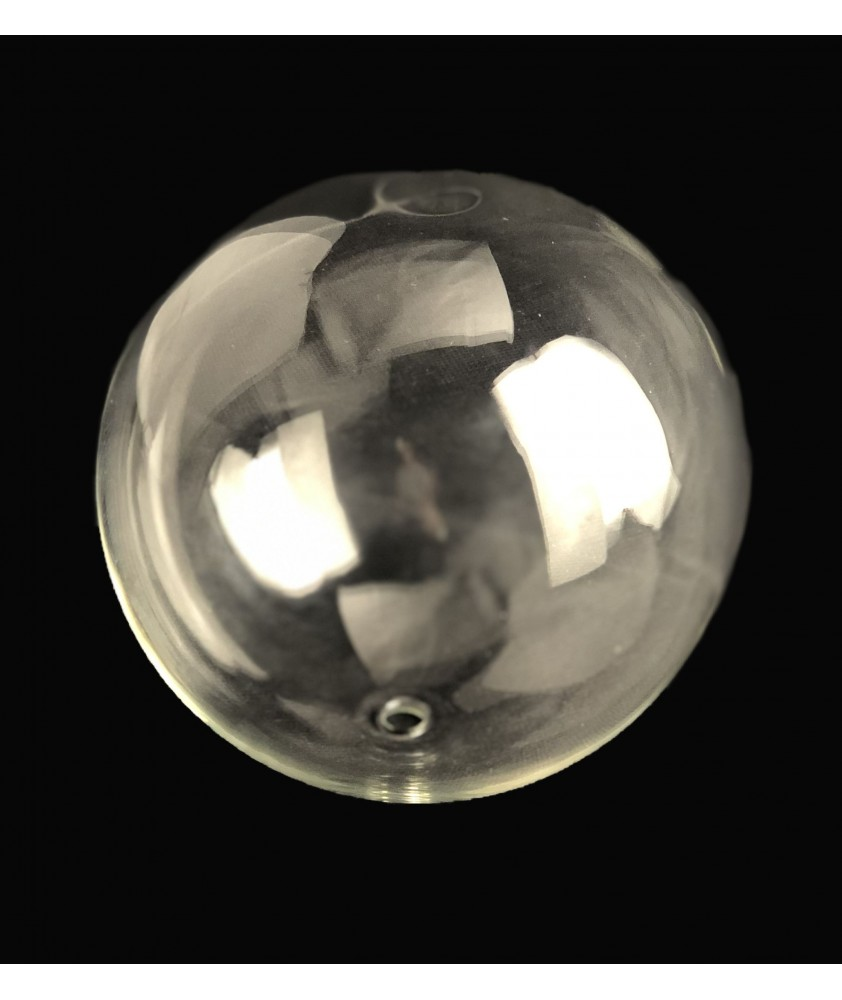 140mm Clear Globe with 10mm Fitter Hole (Clear or Frosted)