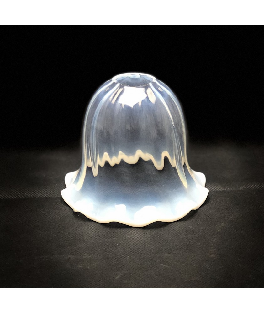 Opalescent Frilled Tulip Shade with 28mm Fitter Hole