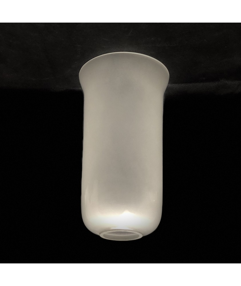 Internal Etched Hurricane Glass Shade With 40mm Base