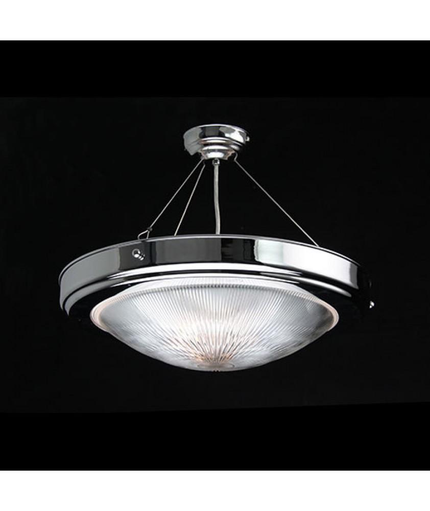 Prismatic Hanging Dish Uplighter