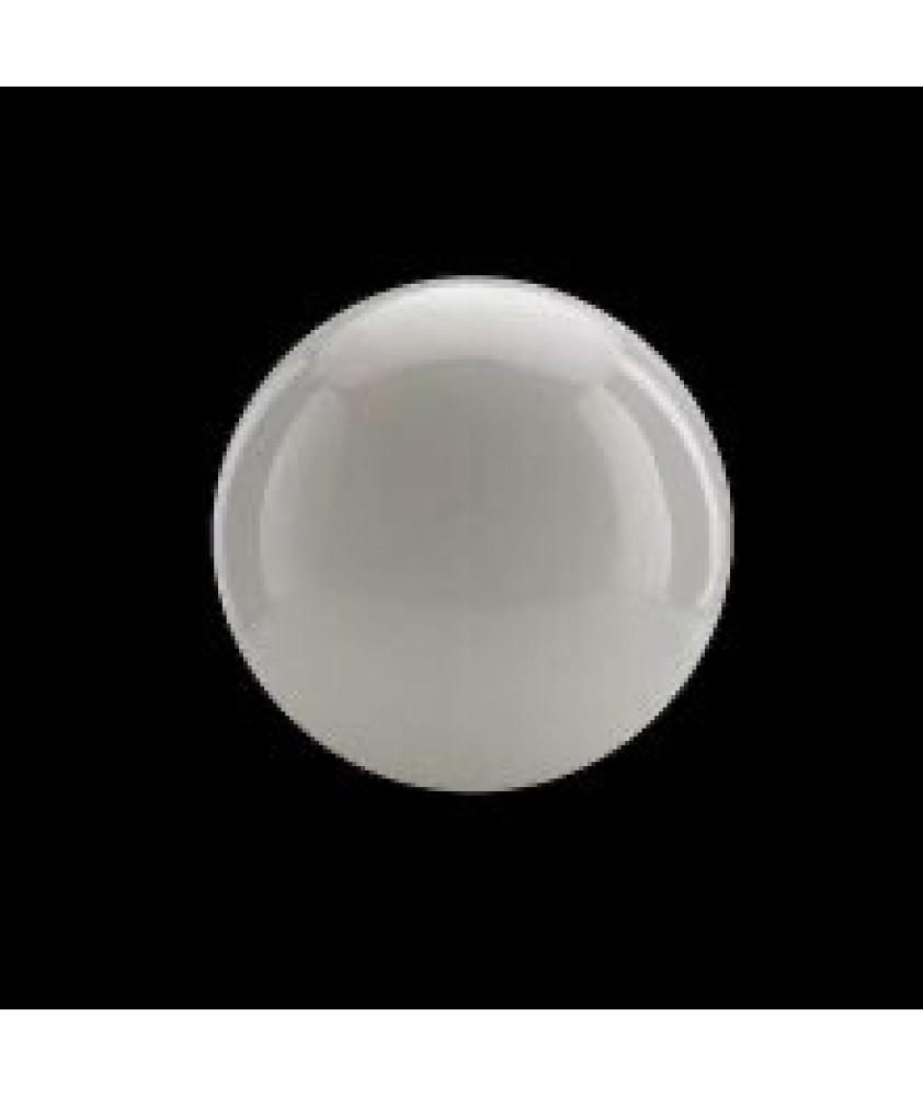 250mm Matt Opal Globe with 80mm Fitter Hole