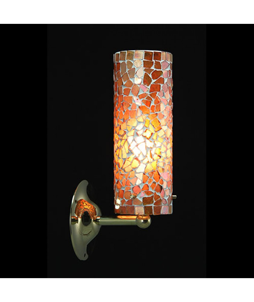 Brunswick Cylinder Wall Light - Orange Mosaic