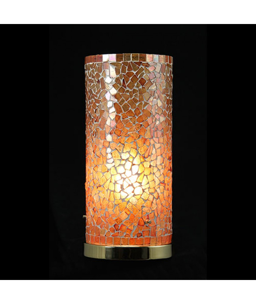 Brunswick Cylinder Table Lamp - Orange Mosaic