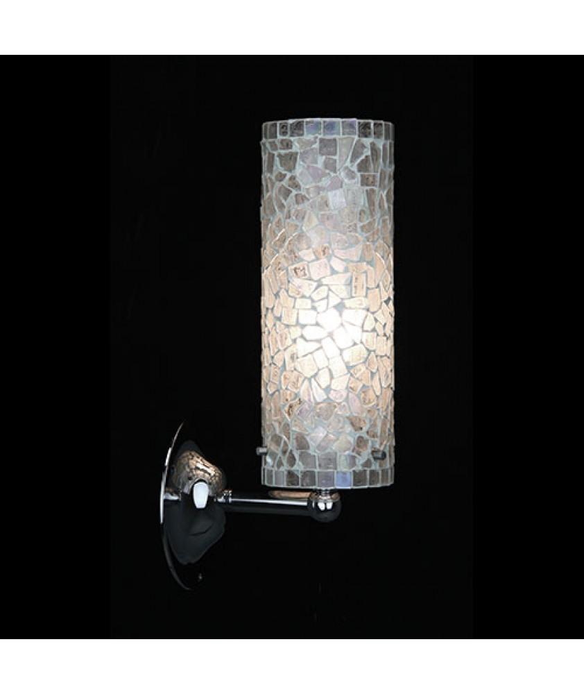 Brunswick Cylinder Wall Light - White Mosaic