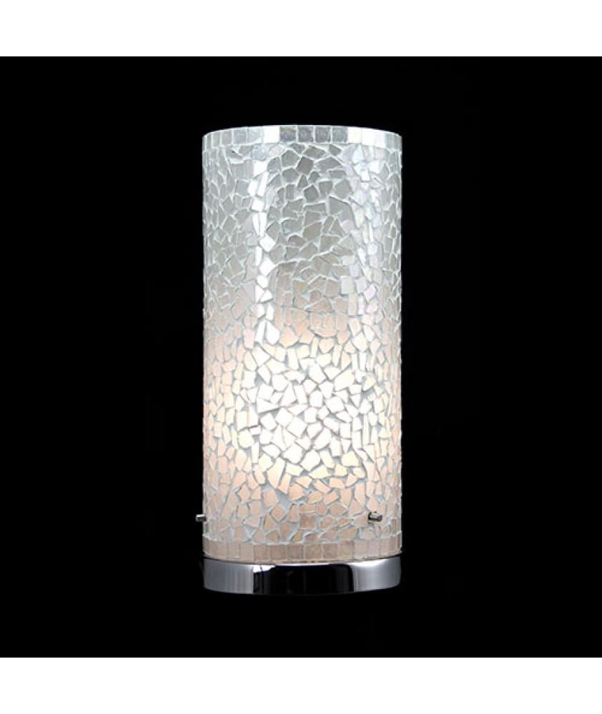 Brunswick Cylinder Table Lamp - White Mosaic