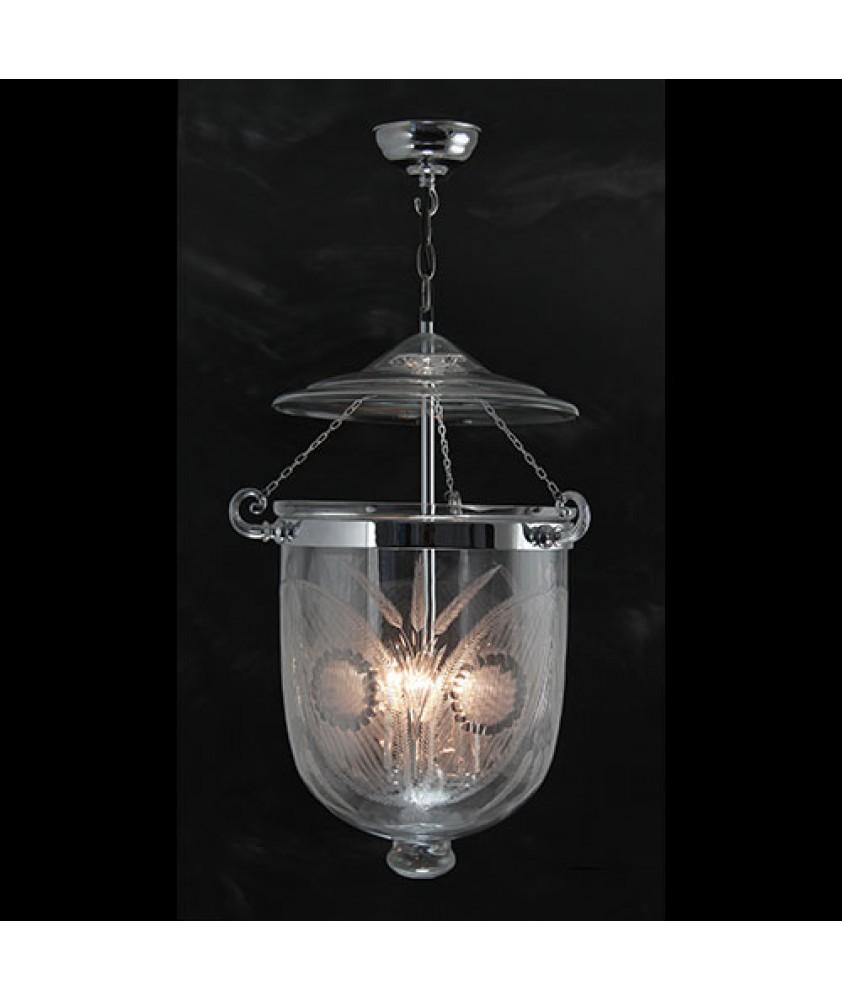 Large Fern Lantern - Chrome