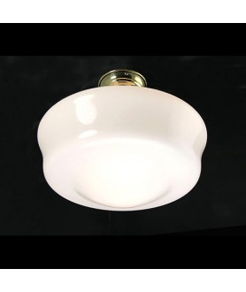 Flashed Opal School House Semi Flush Ceiling Light