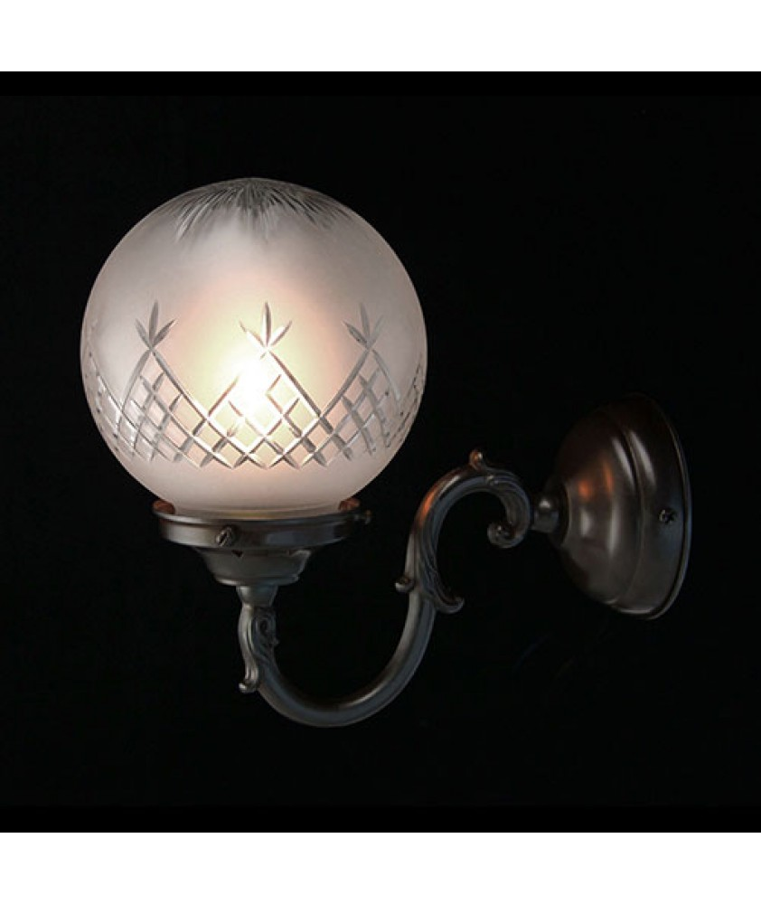Pineapple Globe Wall Light