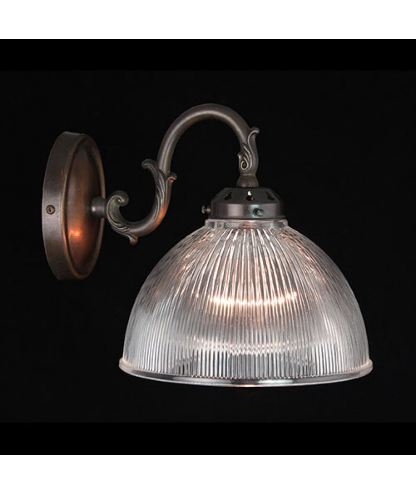 Prismatic Dome Wall Light