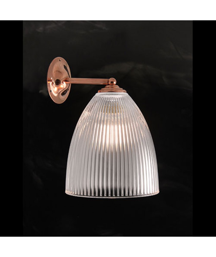 Elongated Dome Wall Light - Copper Finish