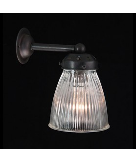 Prismatic Elongated Dome Wall Light