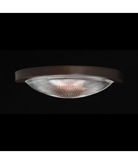 Prismatic Flush Wall/Ceiling Light - Antique Bronze