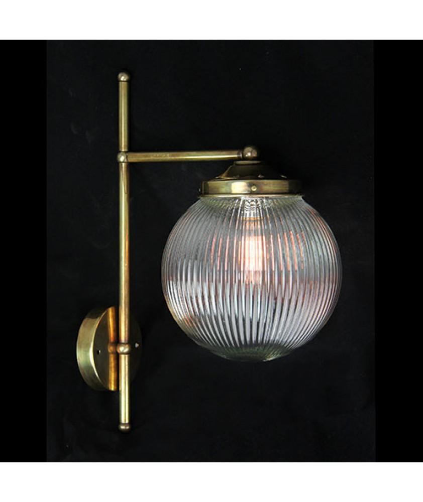 Prismatic Globe Wall Light