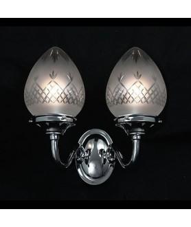 Double Acorn Wall Light