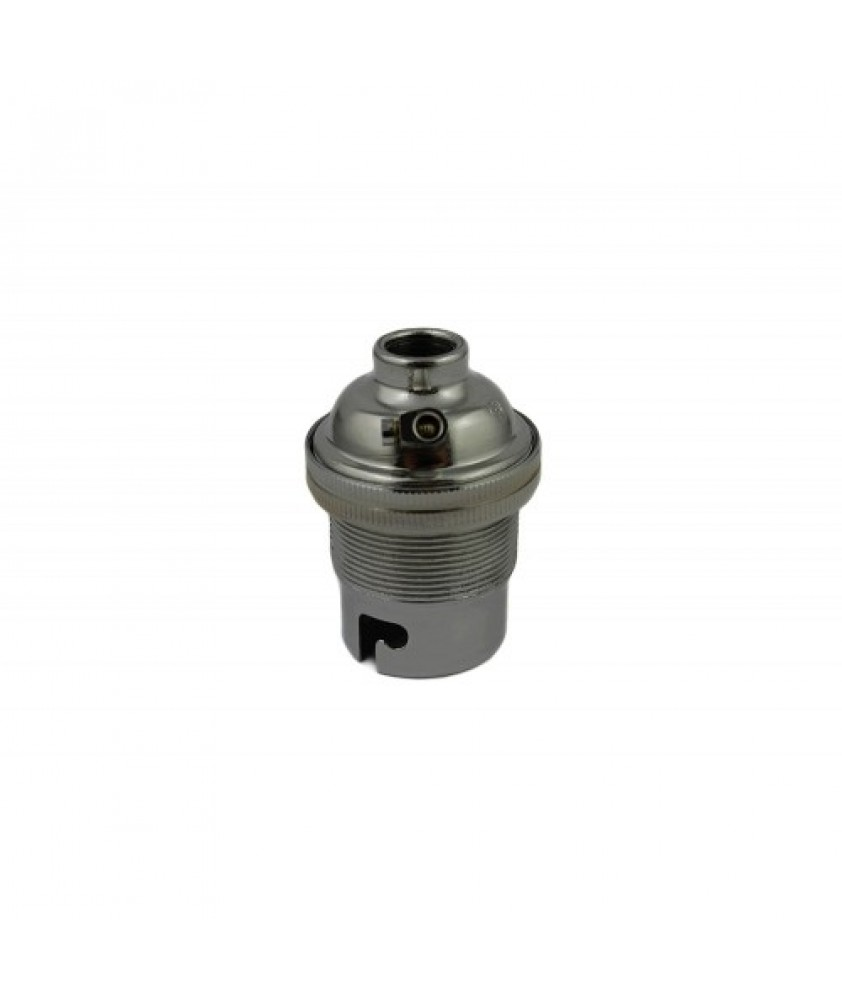 BC Bulb Holder with 10mm Hole in Various Colour Finishes
