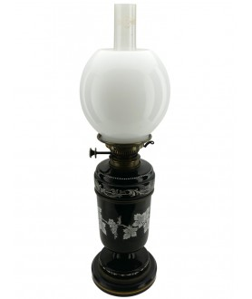 Opal Oil Lamp Globe with 100mm Base