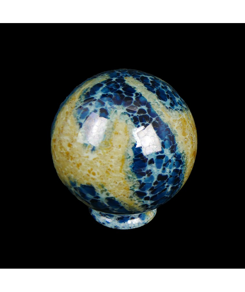 150mm Blue / Amber Globe with 80mm Fitter Neck
