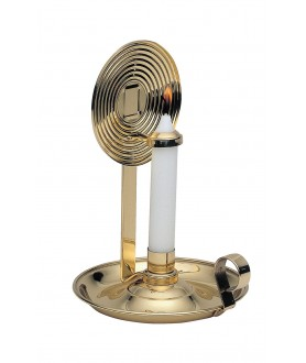Brass Candle Stick Holder with Reflector