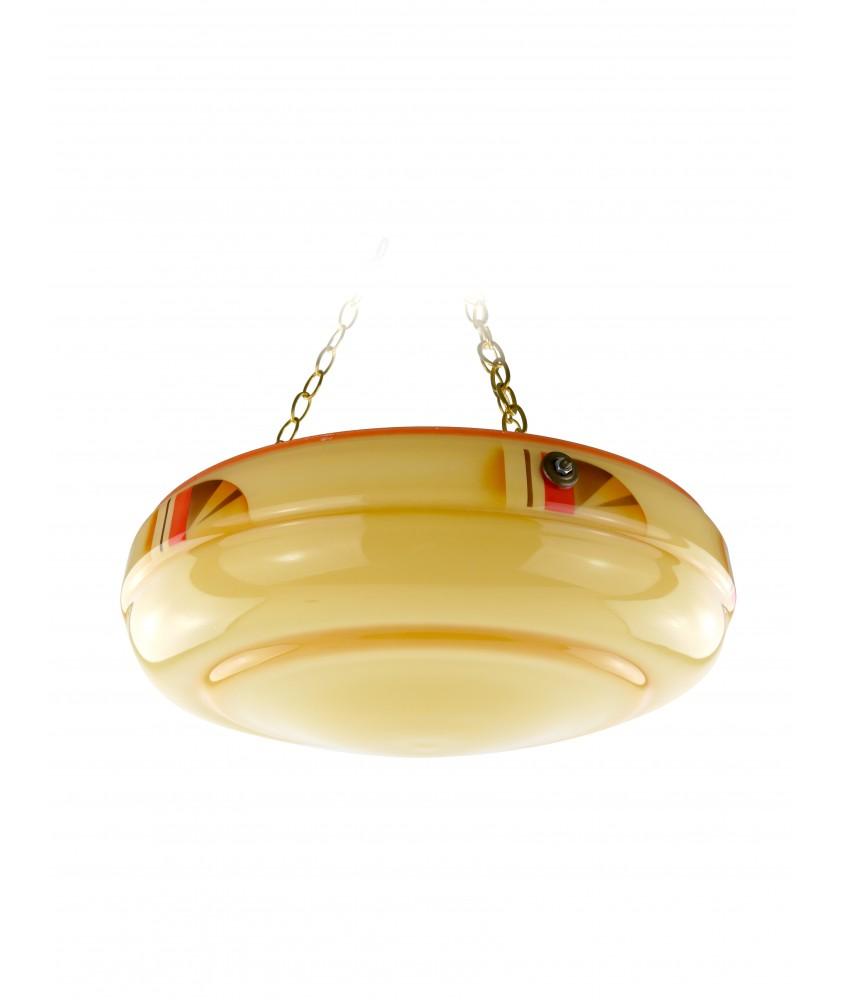 Striking Art Deco Hanging Bowl
