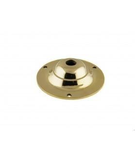 95mm Ceiling Plate Cast Brass/Chrome