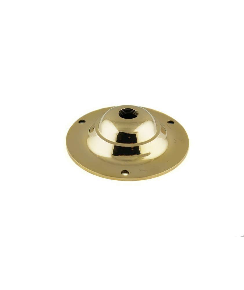 95mm Ceiling Plate Cast Brass or Chrome