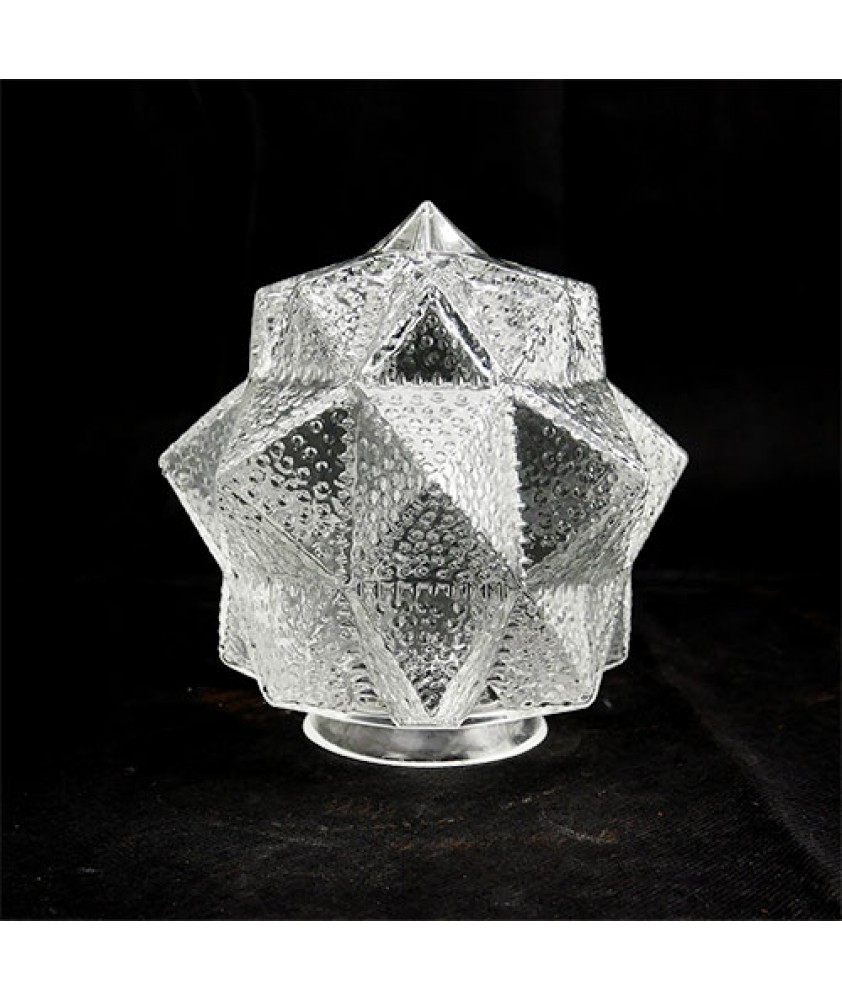 Clear Art Deco Star Shade