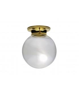 Clear Globe  Flush Ceiling Light