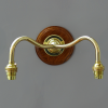 John Moncrieff Brass Double Wall Bracket