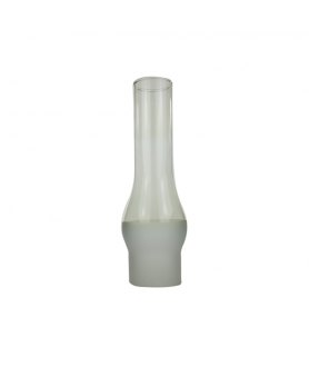 65mm  Base Half Frosted Duplex Oil lamp Chimney