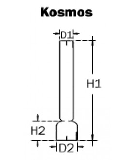 Kosmos 8 Line Oil Lamp Chimney 36mm Base