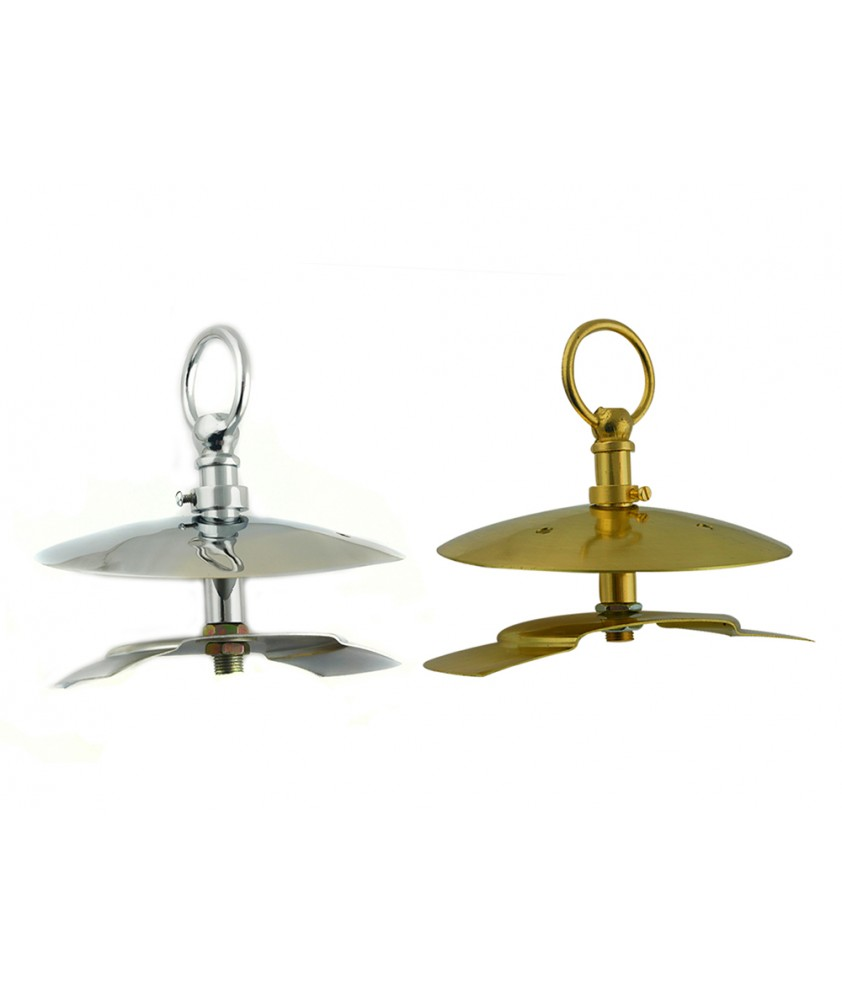Monks Cap Gallery in Brass or Chrome  to suit 80-100mm Opening