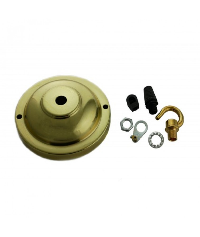 100mm Ceiling Plate with cord grip and hooks in Various Finishes