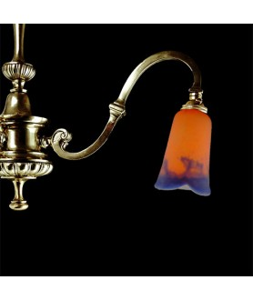 Orange to Blue Pate de Verre with 28mm Fitter Hole