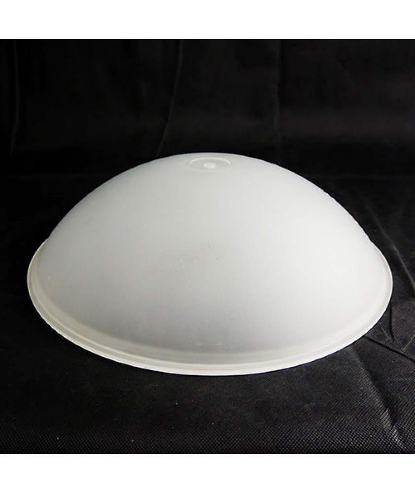 400mm Opal Etched Flush Ceiling Bowl with 10mm Center Hole