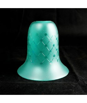 Turquoise Dotted Tulip Light Shade with 30mm Fitter Hole