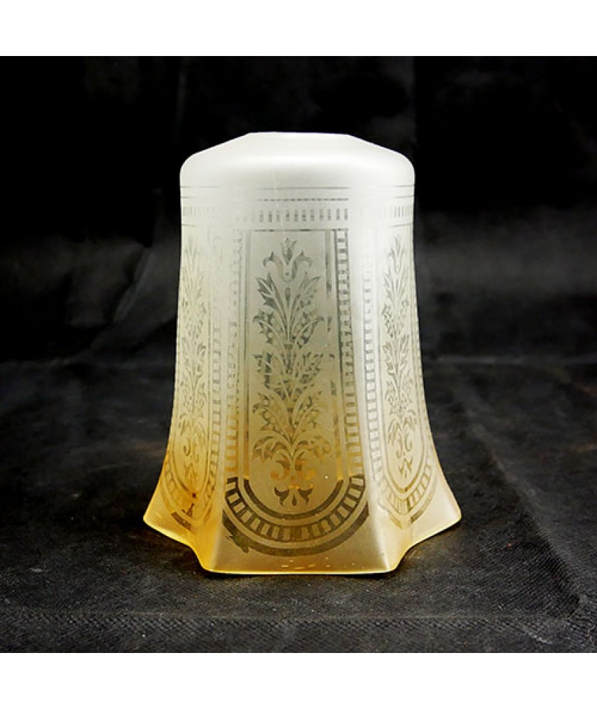 Christopher Wray Amber Tulip Shade with 28mm Fitter Hole
