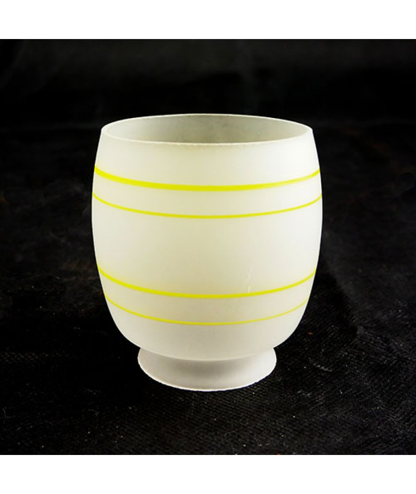 Gas Shade etched with yellow band