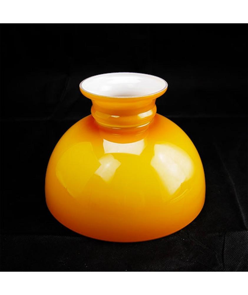 245mm Base Cognac Aladdin Oil Lamp Dome