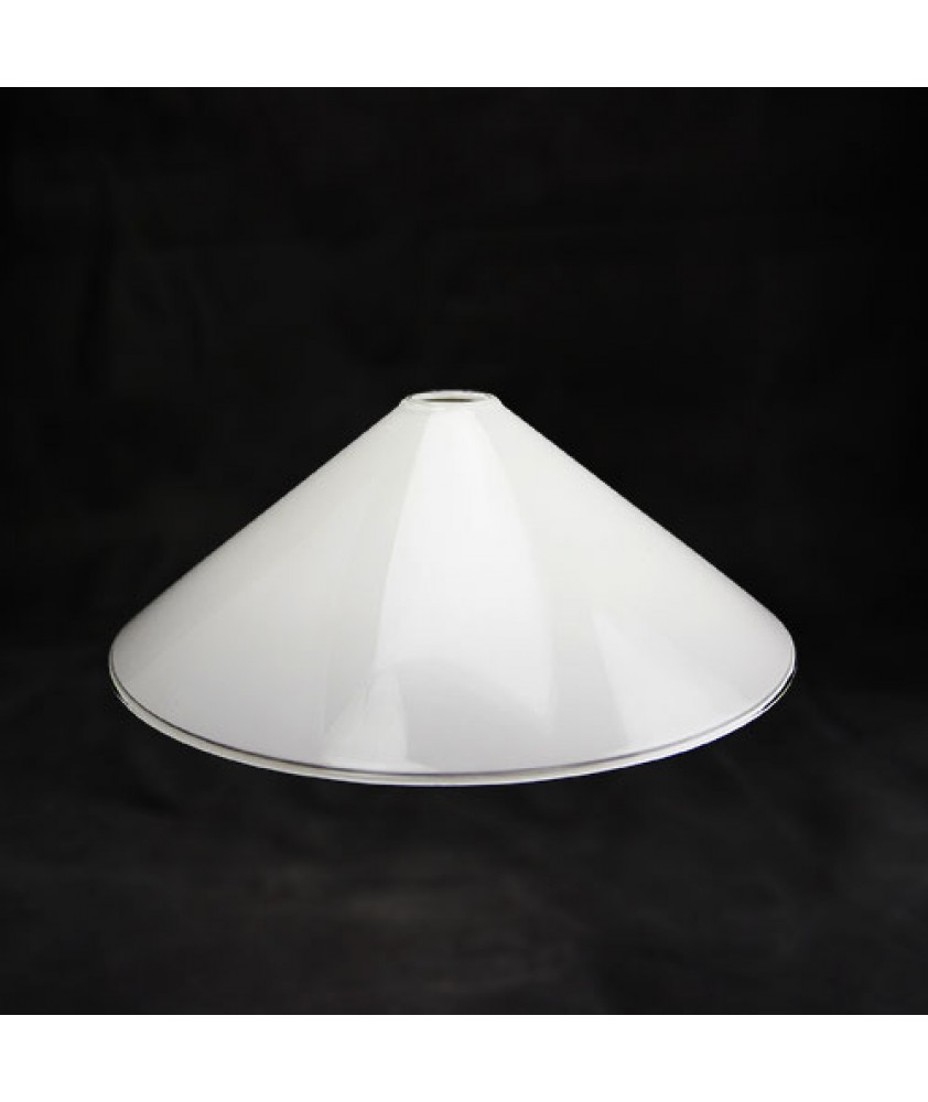 253mm Opal Coolie Light Shade with 28-30mm Fitter Hole