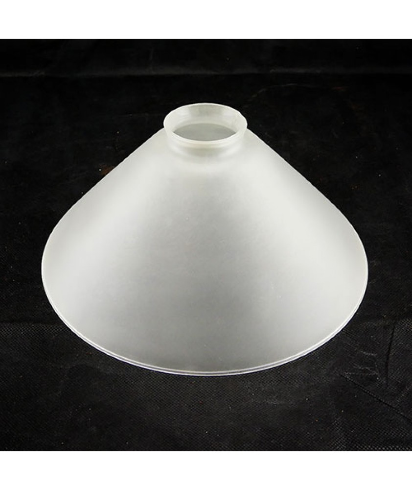 245mm Satin Etched Coolie Light Shade with 57mm Fitter Neck