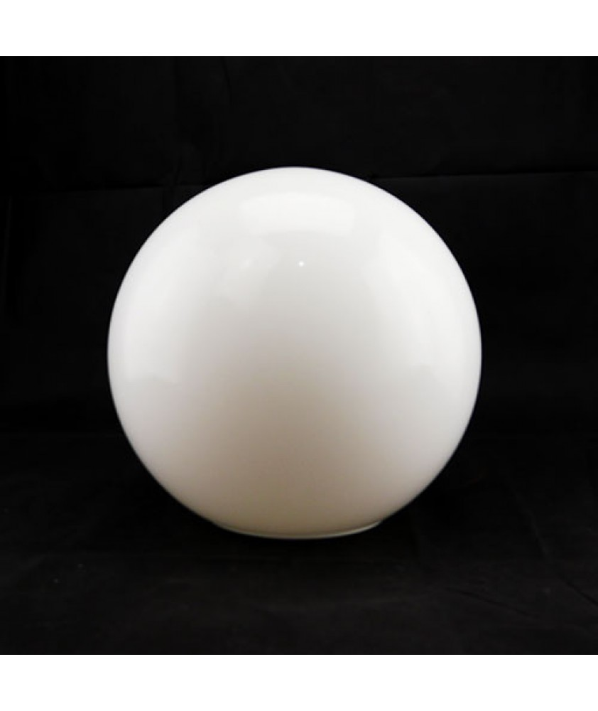 300mm Opal Globe Light Shade with 150mm Fitter hole and 6mm Pilot hole