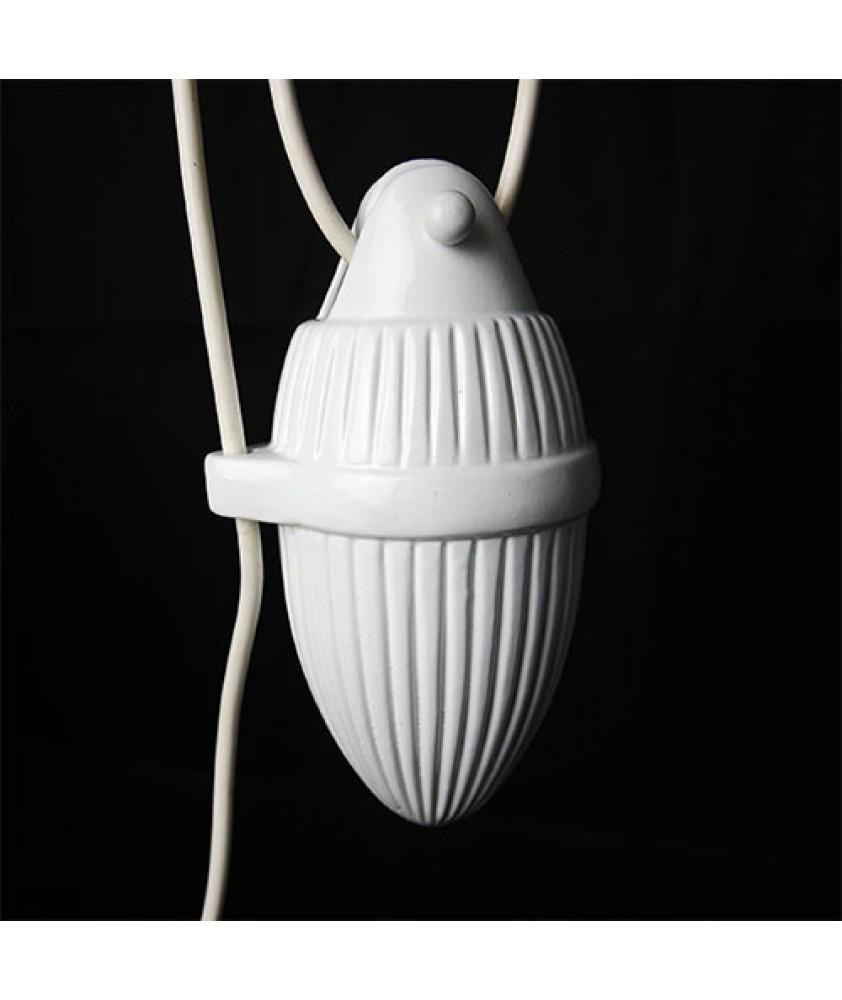 Contemporary White Ceramic Rise and Fall Fixture