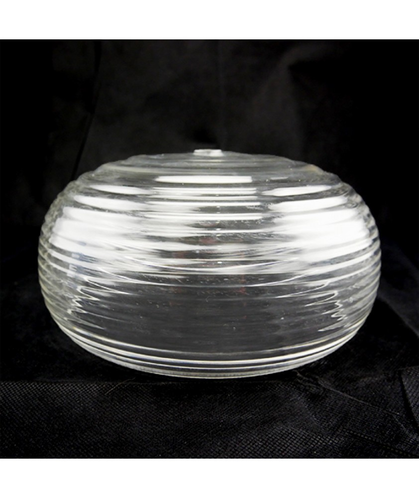 254mm Beehive Clear Ceiling Light Shade with 19mm Fitter Hole