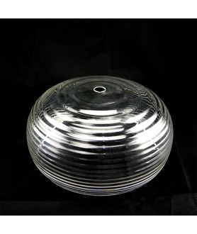 254mm Beehive Clear Light Shade with 19mm Fitter Hole