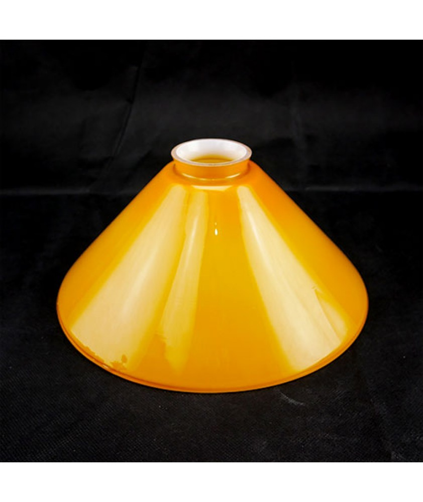 245mm Cognac Coolie Light Shade with 57mm Fitter Neck